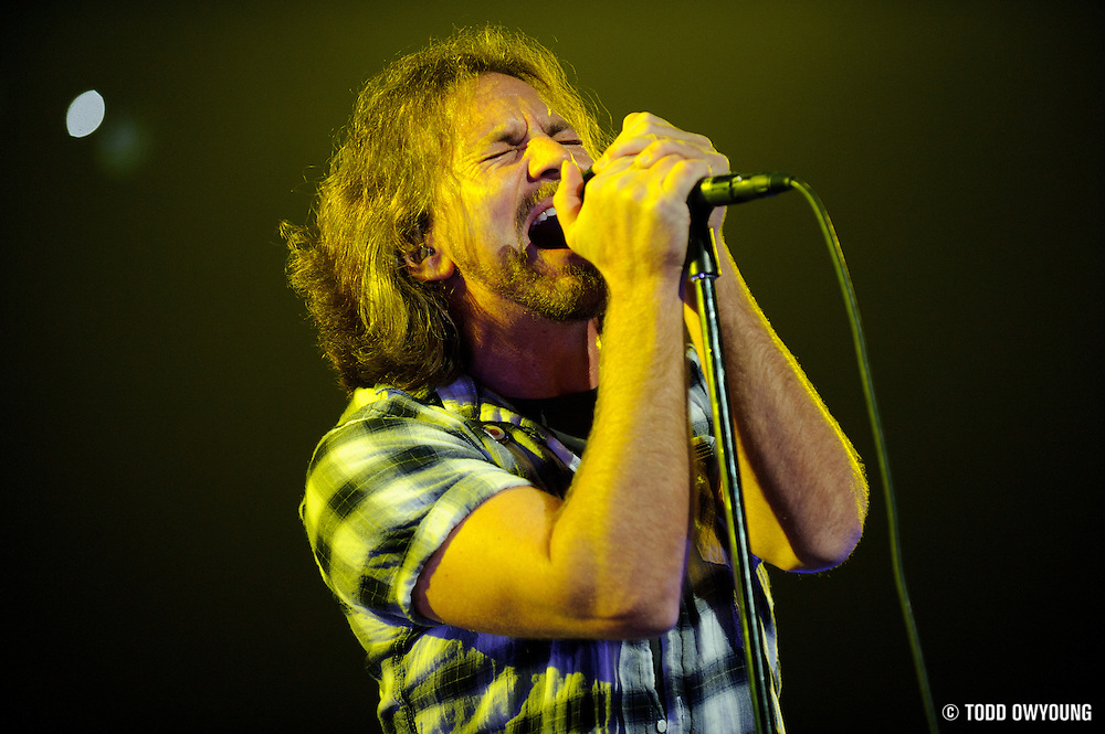 Photos of Pearl Jam performing at the Scottrade Center in St. Louis on May 4, 2010.