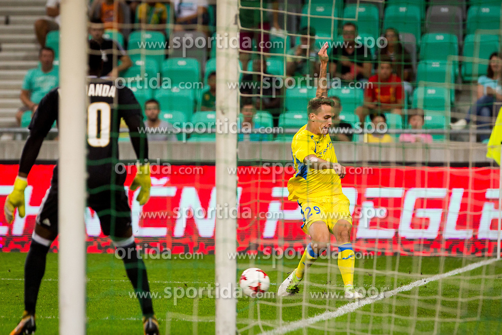 Jure Balkovec of NK Domzale during football match between NK Domzale and Olympique de Marseille in First game of UEFA Europa League playoff round, on August 17, 2017 in SRC Stozice, Ljubljana, Slovenia. Photo by Ziga Zupan / Sportida