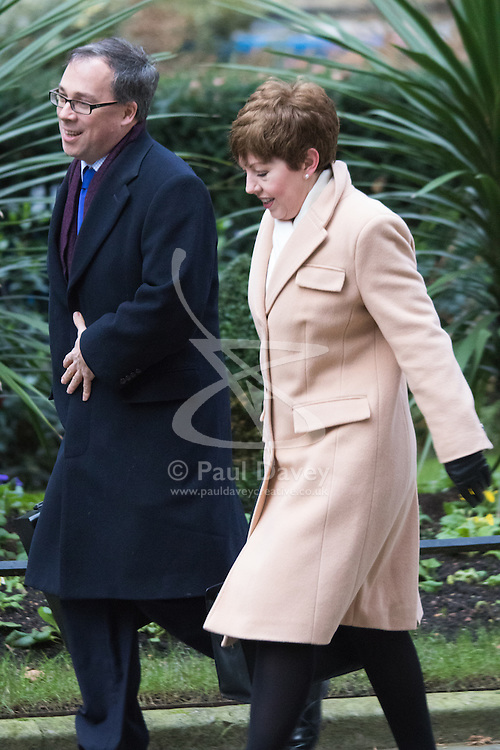 Downing Street, London, February 9th 2016.  Leader of the House of Lords Baroness Stowell arrives in Downing Street for the weekly cabinet meeting. ///FOR LICENCING CONTACT: paul@pauldaveycreative.co.uk TEL:+44 (0) 7966 016 296 or +44 (0) 20 8969 6875. ©2015 Paul R Davey. All rights reserved.
