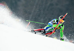 Forerunner Maks Mirnik of Slovenia during Audi FIS Alpine Ski World Cup Men's Slalom 58th Vitranc Cup 2019 on March 10, 2019 in Podkoren, Kranjska Gora, Slovenia. Photo by Matic Ritonja / Sportida