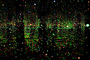 Infinity Mirrored Room – Filled with the Brilliance of Life, Kusama's largest Infinity Mirror Room todate. Tate Modern, London, UK. Yayoi Kusama is a Japanese artist. Throughout her career she has worked in a wide variety of media, including painting, collage, sculpture, performance art and environmental installations, most of which exhibit her thematic interest in psychedelic colors, repetition and pattern.