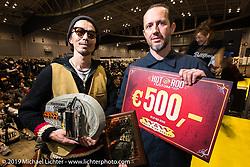 Hide Hideya Togashi at the annual Mooneyes Yokohama Hot Rod and Custom Show. Japan. Sunday, December 7, 2014. Photograph ©2014 Michael Lichter.