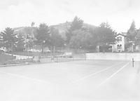 1925 Tennis court at 1847 Camino Palmero