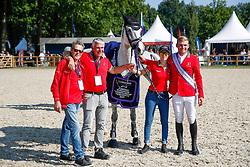 RIESENBECK - FEI Jumping European Championship Riesenbeck 2021<br /> <br /> BALSIGER Thomas, BALSIGER Bryan (SUI), AK's Courage<br /> Impressionen vom Abreiteplatz<br /> Second Qualifying Competition - Round 2 <br /> Team Final<br /> <br /> Hörstel-Riesenbeck, Reitanlage Riesenbeck International<br /> 03. September 2021<br /> © www.sportfotos-lafrentz.de/Stefan Lafrentz
