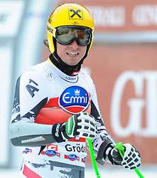 20.12.2013, Saslong, Groeden, ITA, FIS Ski Weltcup, Groeden, Herren, SuperG, im Bild Max Franz (AUT) // Max Franz of Austria reacts at the finish area during mens Super-G of the Groeden FIS Ski Alpine World Cup at the Saslong Course in Gardena, Italy on 2012/12/20. EXPA Pictures © 2013, PhotoCredit: EXPA/ Johann Groder
