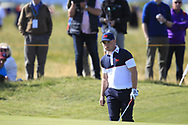 Alex Fitzpatrick (GB&I) on the 17th during Day 2 Foursomes of the Walker Cup, Royal Liverpool Golf CLub, Hoylake, Cheshire, England. 08/09/2019.<br /> Picture Thos Caffrey / Golffile.ie<br /> <br /> All photo usage must carry mandatory copyright credit (© Golffile   Thos Caffrey)