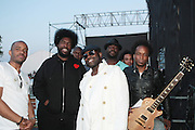 """June 2, 2012- Philadelphia, PA, United States: The ROOTS attend the 5th Annual ROOTS Picnic held at Festival Pier at Penn's Landing in Philadelphia, PA . The Roots is an American hip hop/neo soul band formed in 1987 by Tariq """"Black Thought"""" Trotter and Ahmir """"Questlove"""" Thompson in Philadelphia, Pennsylvania. They are known for a jazzy, eclectic approach to hip hop which includes live instrumentals. (Photo by Terrence Jennings)"""