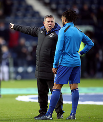 """Everton's first team coach Craig Shakespeare speaks to Ashley Williams before the Premier League match at The Hawthorns, West Bromwich. PRESS ASSOCIATION Photo. Picture date: Tuesday December 26, 2017. See PA story SOCCER West Brom. Photo credit should read: Nick Potts/PA Wire. RESTRICTIONS: EDITORIAL USE ONLY No use with unauthorised audio, video, data, fixture lists, club/league logos or """"live"""" services. Online in-match use limited to 75 images, no video emulation. No use in betting, games or single club/league/player publications."""