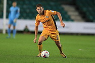 Mark Randall of Newport county in action. EFL cup, 1st round match, Newport county v Milton Keynes Dons at Rodney Parade in Newport, South Wales on Tuesday 9th August 2016.<br /> pic by Andrew Orchard, Andrew Orchard sports photography.