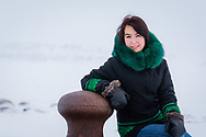 Angel Lacasse, from Inukjuak, is an inuit woman very pleasant to photoshoot.