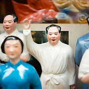 Miniature Chairman Mao statue at Hollywood Road Antiques Market, Central Hong Kong