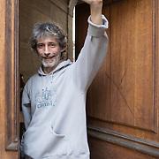 Piccolo Teatro Grassi, Milano, Italia, 1 Aprile 2021. Marco D'Amico, 53 anni, operaio dello spettacolo.