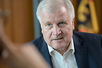 01 JUL 2019, BERLIN/GERMANY:<br /> Horst Seehofer, CSU, Bundesinnenminister, waehrend einem Interview, in seinem Buero, Bundesministerium des Inneren<br /> IMAGE: 20190701-01-015<br /> KEYWORDS: Büro