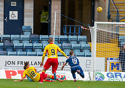 Partick Thistle's Lewis Mansell scoring their third goal. Dundee 1 v 3 Partick Thistle, Scottish Championship game player 19/10/2019 at Dundee stadium Dens Park.