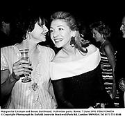 Marguerite Littman and Susan Gutfreund.  Valentino party. Rome. 7 June 1991. Film 91560f16<br />© Copyright Photograph by Dafydd Jones<br />66 Stockwell Park Rd. London SW9 0DA<br />Tel 0171 733 0108