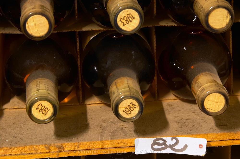 Old sauternes bottles 1982 and 1983 - Chateau Haut Bergeron, Sauternes, Bordeaux