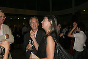Victoria Miro and her husband, Space Trumpet- Conrad Shawcross. Hosted by Unilever, Anderson O'Day Fine Art and Victoria Miro. Unilever Building. 100 Victoria Embankment. 23 May 2007. <br /> -DO NOT ARCHIVE-© Copyright Photograph by Dafydd Jones. 248 Clapham Rd. London SW9 0PZ. Tel 0207 820 0771. www.dafjones.com.