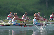 Lucerne, Switzerland. 1995 FISA WC III, Lake Rotsee, Lucerne,<br /> GBR W8+ . left to right, Bow XXXXX, Alison GILL, <br /> [Mandatory Credit. Peter SPURRIER/Intersport Images]<br /> <br /> Image scanned from Colour Negative