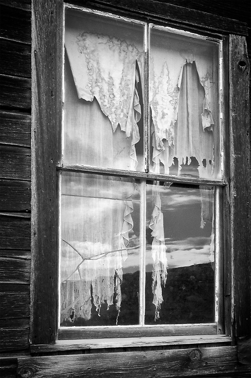 Seeing the World Through Curtains, Bodie, CA