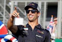 Red Bull's Daniel Ricciardo during the paddock day of the 2018 British Grand Prix at Silverstone Circuit, Towcester.