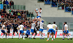 Italy's Alessandro Zanni jumps during a lineout during the NatWest 6 Nations match at the Stadio Olimpico, Rome.