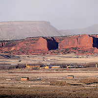 030814       Cable Hoover<br /> <br /> The buildings and bunkers of the Fort Wingate army depot still occupy the space between the Hogbacks and Red Rock Park east of Gallup Saturday.