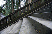 stairs at an temple complex Japan