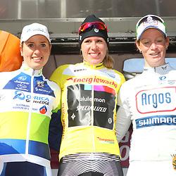 Energiewacht Tour stage 6 Groningen GC 1th Ellen van Dijk, 2nd Loes Gunnewijk and 3th Kirsten WIld