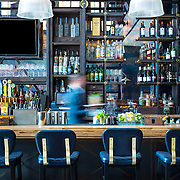 Bar in downtown San Diego California with hospitality and waiter