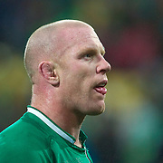 """Paul O""""Connell, Ireland, after his sides defeat during the Ireland V Wales Quarter Final match at the IRB Rugby World Cup tournament. Wellington Regional Stadium, Wellington, New Zealand, 8th October 2011. Photo Tim Clayton..."""
