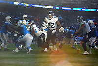 American Football - 2018 NFL Season (NFL International Series, London Games) - Tennessee Titans vs. Los Angeles Chargers<br /> <br /> Derrick Henry of the Titans breaks through the middle for his touch down, at Wembley Stadium.<br /> <br /> COLORSPORT/ANDREW COWIE
