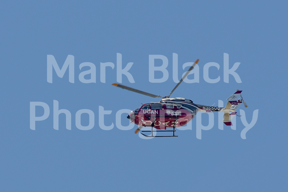 University of Chicago Medical helicopter in Chicago on Wednesday, Aug. 19, 2020.  Photo by Mark Black