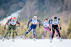 Ski runners during Ladies 1.2 km Free Sprint 1/4 final race at FIS Cross Country World Cup Planica 2016, on January 16, 2016 at Planica,Slovenia. Photo by Ziga Zupan / Sportida