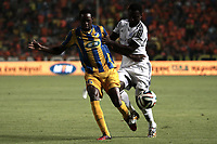 Fotball<br /> Foto: imago/Digitalsport<br /> NORWAY ONLY<br /> <br /> Vinicius of Apoel and Baah of Helsinki fight for the ball during their Champions League third qualifying round second leg against HJK Helsinki at GSP stadium in Nicosia, Cyprus, Tuesday, August 6, 2014 APOEL vs HJK Helsinki Champions League 2014/2015