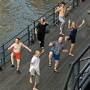 Morning Tai Chi Class at the South Street Seaport in Manhattan