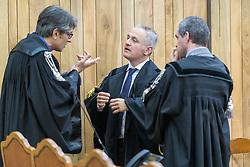 PM AMDREA MAGGIONI CON AVVOCATO GIANLUCA BELLUOMINI<br /> UDIENZA PROCESSO IGOR VACLAVIC NORBERT FEHER A FERRARA