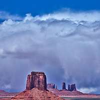 Storm approaching from Artist's Point in Monument Valley Navajo Tribal Park Arizona
