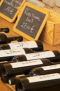 Rarissime. Domaine Mas Gabinele. Faugeres. Languedoc. The wine shop and tasting room. France. Europe. Bottle.