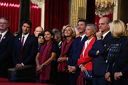 Paris 2024 delegation members Anne Hidalgo , Tony Estanguet Valerie Pecresse during the welcoming ceremony to celebrate Paris' coronation as host of the 2024 Olympics Games at the Elysee Palace in Paris on September 15, 2017. Photo by Hamilton/Pool/ABACAPRESS.COM