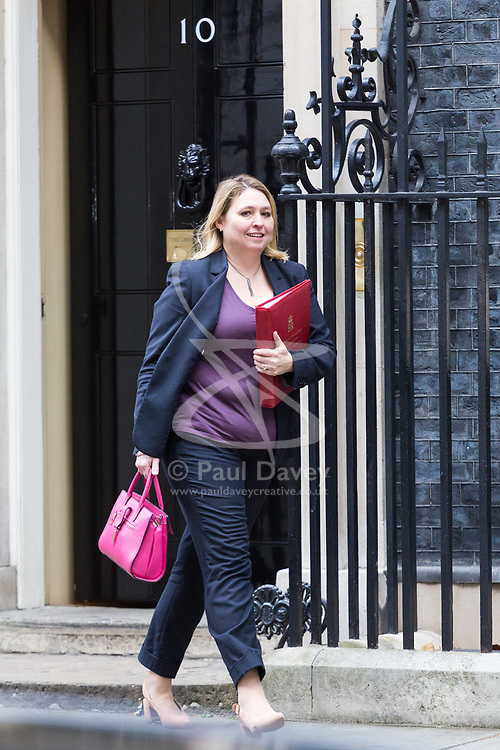 London, October 31 2017. Secretary of State for Culture, Media and Sport Karen Bradley leaves the weekly UK cabinet meeting at Downing Street. © Paul Davey