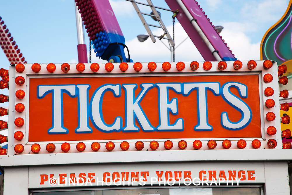 Carnival Ticket Booth Sign
