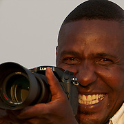 One of our guides tries the new Lumix GH3. South Africa.