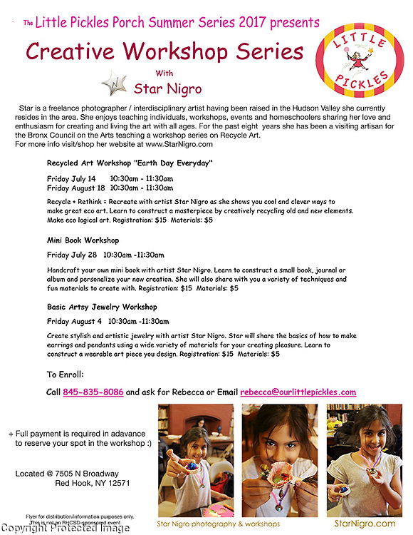 Creative Art Series with Star @ Little Pickles in Redhook, NY<br /> <br /> Sign up today:)
