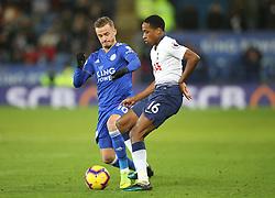Leicester City's James Maddison (left) and Tottenham Hotspur's Kyle Walker-Peters battle for the ball during the Premier League match at the King Power Stadium, Leicester.