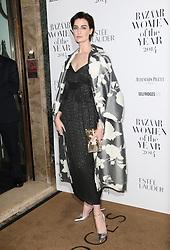 © Licensed to London News Pictures. 04/11/2014, UK. Erin O'Connor, Harper's Bazaar Women of the Year Awards, Claridge's, London UK, 04 November 2014. Photo credit : Richard Goldschmidt/Piqtured/LNP