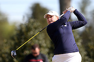 15 April 2016: Notre Dame's Isabella DiLisio. The First Round of the Atlantic Coast Conference's Womens Golf Tournament was held at Sedgefield Country Club in Greensboro, North Carolina.