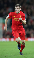 James Milner of Liverpool during the English Premier League match at Anfield Stadium, Liverpool. Picture date: December 31st, 2016. Photo credit should read: Lynne Cameron/Sportimage