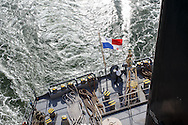 San Francisco Bar Pilot Dave McCloy pilots the bulk carrier Global Arrow, from Anchorage 7 to New York Point, Pittsburgh, CA, en route to Stockton where it will load rice destined for Japan.