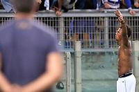 Esultanza dopo il gol di Balde Diao Keita Lazio, con Danilo Cataldi. Goal celebrations.<br /> Roma 4-10-2015 Stadio Olimpico, Football Calcio 2015/2016 Serie A Lazio - Frosinone. Foto Antonietta Baldassarre / Insidefoto