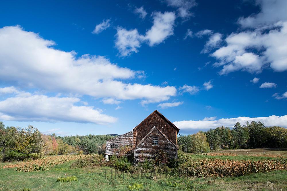 Typical wooden cedar shingles property at Chocorua in Carrolll County, New Hampshire, USA